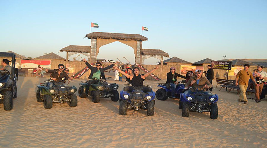 desert camp entrance
