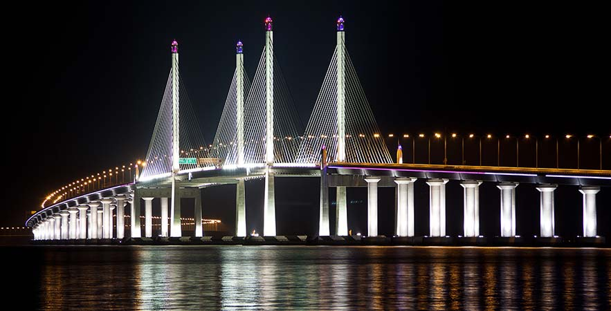 beautiful penang bridge