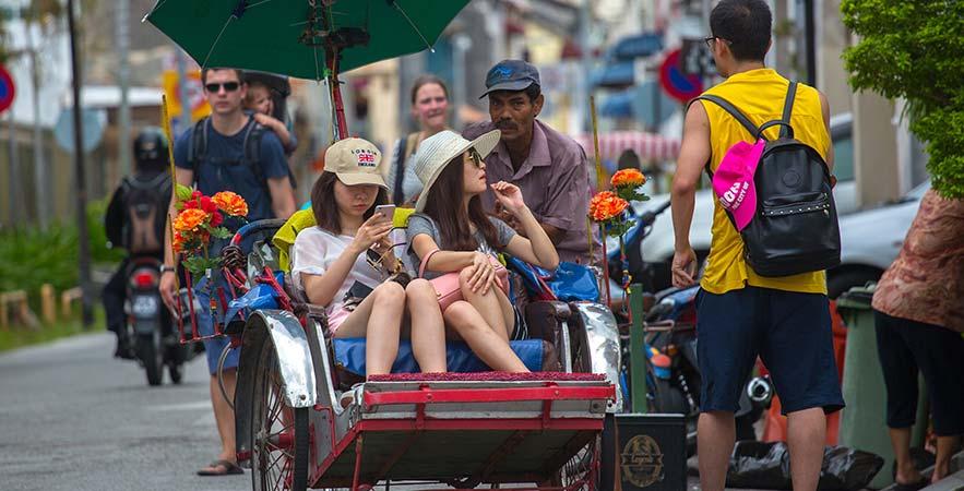 trishaw ride penang