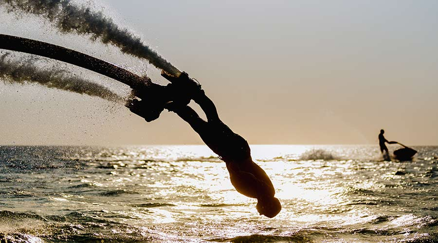 fly boarding activity