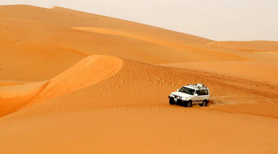 sunrise morning safari in desert