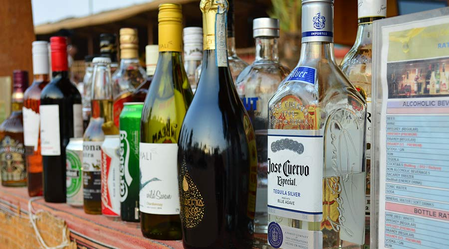 alcohol in camp