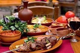 traditional dinner cuisine